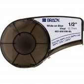 Brady M21-500-595-BL Indoor Outdoor Vinyl Labels White on Blue 0.5 in x 21 ft