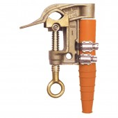 "Salisbury 4255 - 1.25"" Bronze Smooth w/ Curved Lower Jaw ""C"" Clamp - ACME Thread w/ Strain Relief Sleeve"