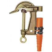"Salisbury 4295 - 2.4"" Bronze Smooth w/ Flat Lower Jaw ""C"" Clamp - ACME Thread. Eye Bolt w/ Strain Relief Sleeve"