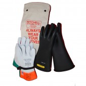 Class 2 Insulated High Voltage Glove Kit - 14 inch 17,000V Gloves (17kV)