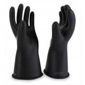"""Hubbell Chance 11"""" Long Class 00 Insulated Electrical Gloves Size 10.5"""