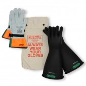Class 3 Insulated High Voltage Lineman Glove Kit - 16 inch 26,500V Gloves - 26.5kV