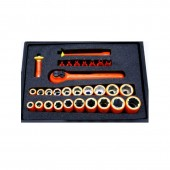 Cementex ISHS-30L - 30 Piece Electrician's Insulated Socket Hex Set