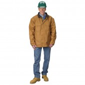 Lakeland 10 oz FR Cotton Brown Duck Insulated Jacket HRC: 4 IJKBD10