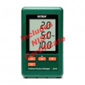 Extech SD750 3-Channel Pressure Datalogger Recorder - NIST Certified