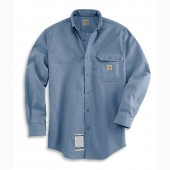 FRS004: Men's Flame-Resistant Chambray Shirt