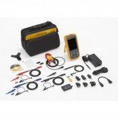 FLUKE 124B/S Industrial Scopemeter Hand-Held Oscilloscope Kit 40MHZ with case and software