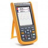 FLUKE 125B Industrial Scopemeter Hand-Held Oscilloscope 40MHZ with Power and Harmonics Measurement