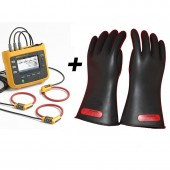 Fluke 1730 Three Phase Power and Energy Logger plus 1000 Volt Rubber Gloves Value Kit