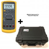 Fluke 87V Industrial True RMS Digital Multimeter Value Kit with Free Premium Hard Carrying Case