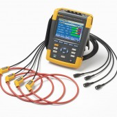 Fluke 438-II Power Quality  and Motor Analyzer Three Phase Kit with 3000 Amp Flex Current Probes