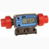 "GPI G2P10N09GMA 1"" PVDF Chemical Battery Powered Flow Meter"