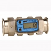 "GPI G2S15T09GMB 1 1/2"" Tri-Clover Battery Powered Flow Meter"
