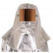 Deluxe 19 oz. Aluminized Carbon/Para-Aramid Hood/Clips for Hard Hat & Gold Film Cover