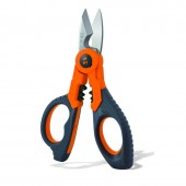 HT Instruments F40 Premium Electricians Scissors feature cable cutting and crimping