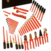 Cementex ITS-60B/T - Insulated Electrician Tools Set - 61 Piece MRO Super Kit with Torque Wrench