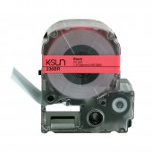 K-Sun LabelShop Black on Red 1 1/2""