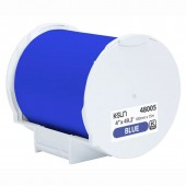 K-Sun 48005 PEARLabel Printer 400iXL 4 inch Blue Polyethylene Olefin Adhesive Tape