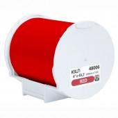K-Sun 48006 PEARLabel Printer 400iXL 4 inch Red Polyethylene Olefin Adhesive Tape
