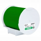 K-Sun 48007 PEARLabel Printer 400iXL 4 inch Green Polyethylene Olefin Adhesive Tape