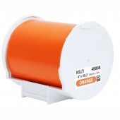 K-Sun 48008 PEARLabel Printer 400iXL 4 inch Orange Polyethylene Olefin Adhesive Tape