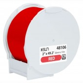 K-Sun 48106 PearLabel Printer 400iXL 2 inch Red Polyethylene Olefin Adhesive Tape