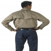 Lakeland Industries Flame Resistant HRC 2 Khaki Vented-Back Shirt