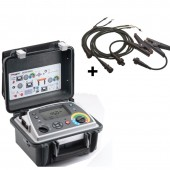 Megger DLRO10-HDX Digital Low Resistance Ohmmeter with Datalogging and Kelvin Clamp Leads