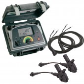 Megger DLRO10HD + KC2 Digital Low Resistance Ohmmeter with Large Jaw Insulated Kelvin Clamps