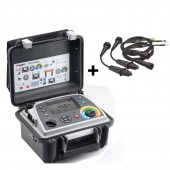 Megger DLRO10-HDX Digital Low Resistance Ohmmeter with Datalogging and Duplex Hand Spike Leads