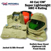 Mitchell Instrument 40 cal Super Light Weight Arc Flash Kit with Jacket and Bib Overalls
