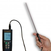 Precision RTD Thermometer with Datalogger - 0.01° Resolution in use backlit