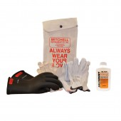 Mitchell Instrument Glove Kit with Class 0 (up to 1000V) Insulated Electricians Gloves, Glove Protectors, Glove Bag and Glove Dust Bottle
