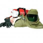 40 Cal/cm2 Premium Light Weight Arc Flash Suit with Class 0 Gloves