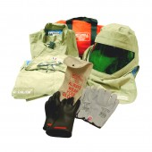 Light Weight 40 Cal Arc Flash Kit with Class 0 Gloves (khaki green)