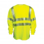 National Safety Apparel Hi-Vis Flame Resistant ANSI Class 3/HRC 2 Long Sleeve T-Shirt #C54HY