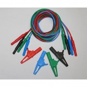 Banana Jack Test Lead Set with Large Aligator Clips (set of Four) 1000V Rated