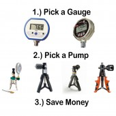 Pneumatic Hand Pressure Pump and Gauge Build Your Own Bundle