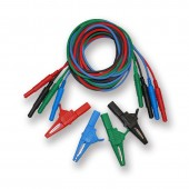Probe Master Banana Jack Test Lead Set with Large Aligator Clips (set of Four) 1000V Rated