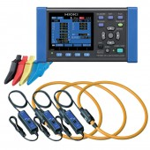 Hioki PW3360-20 Three Phase Power Logger - 5000 Amp Flex Kit