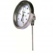Reotemp JJ Adjustable Angle Industrial Bimetal Dial Thermometer 5 Inch Dial