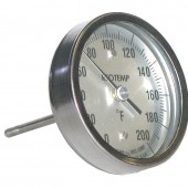 Reotemp BB Back Connect Industrial Bimetal Dial Thermometer 5 Inch Dial with reset