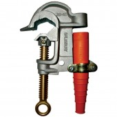 "Salisbury 1895 - 1.5"" Aluminum Serrated w/ Flat Lower Jaw ""C"" Clamp - ACME Thread. Eye Bolt w/ Strain Relief Sleeve"