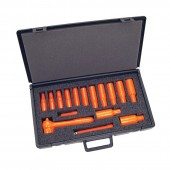 "Salisbury Insulated Tools 16-Pc. Socket Set 3/8"" Driver Deep Set #S104"