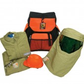 40 Cal Jacket and Bib Overalls and Pro-Air Hood with Backpack