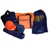 Salisbury SK113XL-SPL 12 Cal/cm2 Coat & Bib Overall Arc Flash Protection Clothing Kit with PrismShield - Size 3X-Large