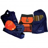 Salisbury SK20BP 20 Cal Arc Flash Clothing Kit With Coat, Bib Overalls and Specialty Backpack