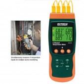 Extech SDL200-NIST Four Channel Thermometer SD Logger