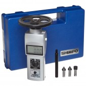 Shimpo DT-105A-S12 Hand Held Contact Tachometer with 12 inch wheel - LCD Display