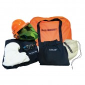 Salisbury SKCP11-1200 12 Cal Electrical Arc Flash Protection Coat and Pants Kit With 12 Cal Face Shield
